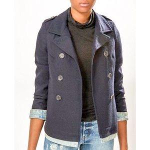 S&S Maison Scotch Navy Wool/Denim Pea Coat Top 2P
